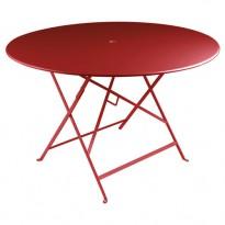 TABLE PLIANTE BISTRO 117CM PIMENT de FERMOB