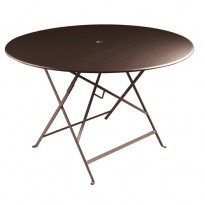 TABLE PLIANTE BISTRO 117CM ROUILLE de FERMOB