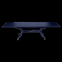 TABLE A ALLONGES ROMANE BLEU ABYSSE de FERMOB