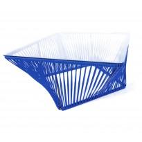 Table basse carrée VERACRUZ de Boqa, 70 x 70, Structure noire, Bleu nuit