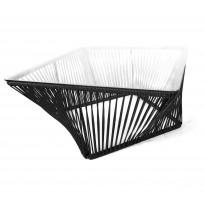 Table basse carrée VERACRUZ de Boqa, 70 x 70, Structure noire, Noir d
