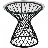 TABLE BASSE HEAVEN, Structure noire / Verre transparent  de EMU