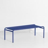 Table basse longue WEEK-END de Petite Friture, Bleu outremer