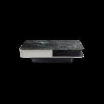 TABLE BASSE LOUNGE LARGE, Plateau marbre vert et inox de RED EDITION