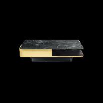TABLE BASSE LOUNGE LARGE, Plateau marbre vert et laiton de RED EDITION