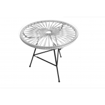 Table basse MINI ZIPOLITE de Boqa avec structure noire, Blanc d