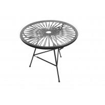 Table basse MINI ZIPOLITE de Boqa avec structure noire, Noir d
