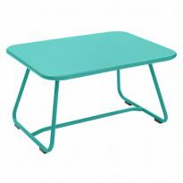 TABLE BASSE SIXTIES, Bleu lagune de FERMOB