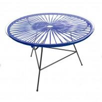 Table basse ZIPOLITE de Boqa avec structure noire, Bleu nuit