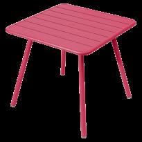 TABLE CARRÉE 4 PIEDS LUXEMBOURG 80 x 80 cm, Rose praline de FERMOB