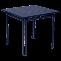 TABLE COSTA 80X80CM BLEU ABYSSE de FERMOB
