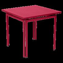 TABLE COSTA 80X80CM ROSE PRALINE de FERMOB