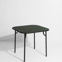 Table carrée WEEK-END de Petite Friture, Vert Bouteille