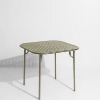 Table carrée WEEK-END de Petite Friture, Vert Jade