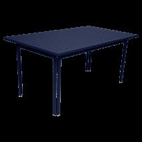 TABLE 160 X 80 COSTA Bleu abysse de FERMOB