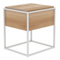 TABLE DE CHEVET MONOLIT, Chêne et blanc d