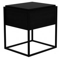 TABLE DE CHEVET MONOLIT, Chêne noir d