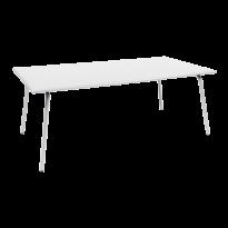 TABLE MONCEAU 194X94X74 BLANC COTON de FERMOB