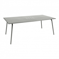 TABLE MONCEAU 194X94X74 GRIS MÉTAL de FERMOB