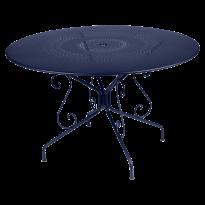 TABLE MONTMARTRE 117CM BLEU ABYSSE de FERMOB