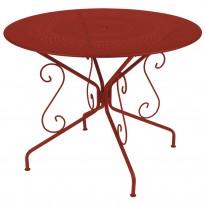 TABLE MONTMARTRE 117CM PIMENT de FERMOB