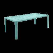 Table  OLÉRON de Fermob, Bleu lagune