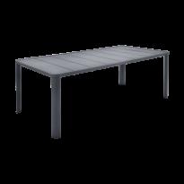 Table  OLÉRON de Fermob, Carbone