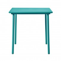 TABLE PATIO CAFE 75 X 75 CM, Vert canard de TOLIX