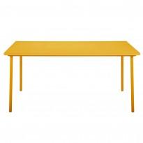 Table PATIO rectangulaire de Tolix, 140 x 80 cm, Jaune moutarde