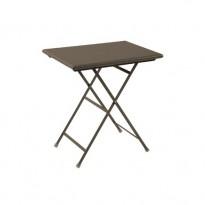 TABLE RECTANGULAIRE ARC EN CIEL, 70 cm, Marron d