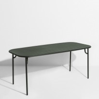 Table rectangulaire WEEK-END de Petite Friture, 180 x 85 x 75, Vert Bouteille