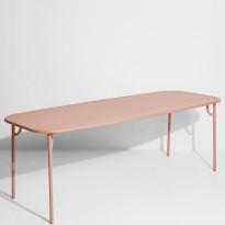 Table rectangulaire WEEK-END de Petite Friture, 220 x 85 x 75, Blush