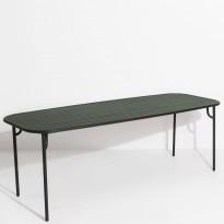 Table rectangulaire WEEK-END de Petite Friture, 220 x 85 x 75, Vert Bouteille