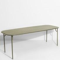 Table rectangulaire WEEK-END de Petite Friture, 220 x 85 x 75, Vert Jade