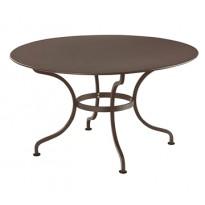 Table ronde D.137 ROMANE de Fermob, Rouille