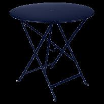 TABLE PLIANTE BISTRO 77CM BLEU ABYSSE de FERMOB