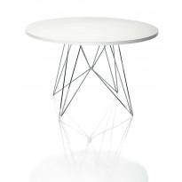 TABLE RONDE XZ3, Blanc / Chrome de MAGIS