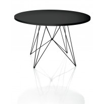 TABLE RONDE XZ3, Noir / Noir de MAGIS