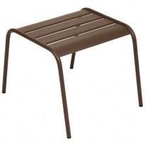 TABLE BASSE REPOSE PIED MONCEAU ROUILLE de FERMOB