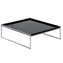 TABLE BASSE TRAYS 80 X 80 CM DE KARTELL, NOIR