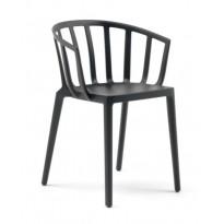 Chaise VENICE avec traitement Soft Touch de Kartell, Noir opaque