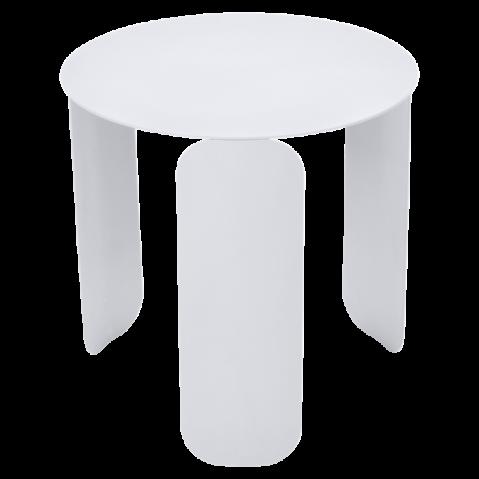 TABLE BASSE BEBOP DE FERMOB, D.45, BLANC COTON