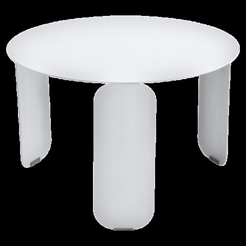 Table basse BEBOP de Fermob, D. 60, Blanc coton