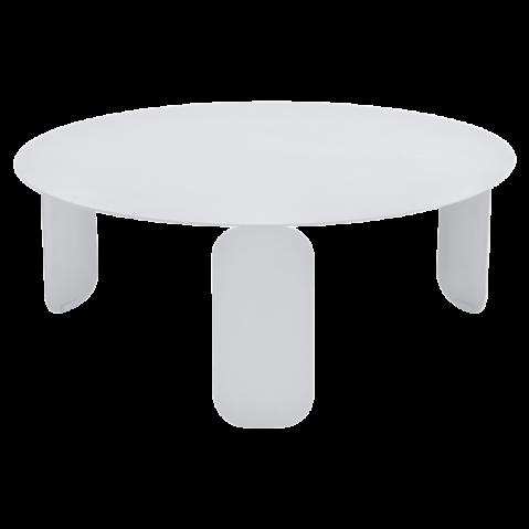 TABLE BASSE BEBOP DE FERMOB, D.80, BLANC COTON
