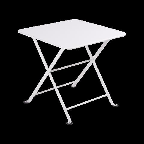 TABLE BASSE ENFANT TOM POUCE 50X50CM BLANC COTON de FERMOB