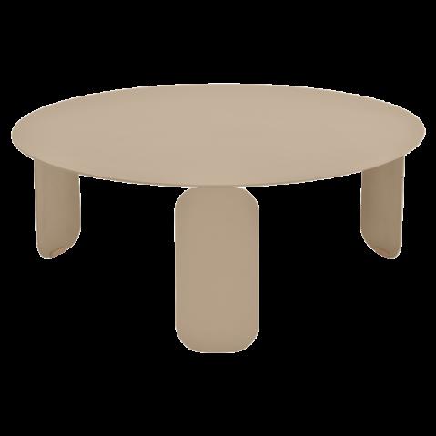 Table basse BEBOP de Fermob, D. 80, Muscade