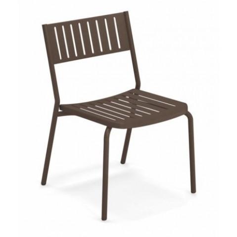 chaise bridge emu marron