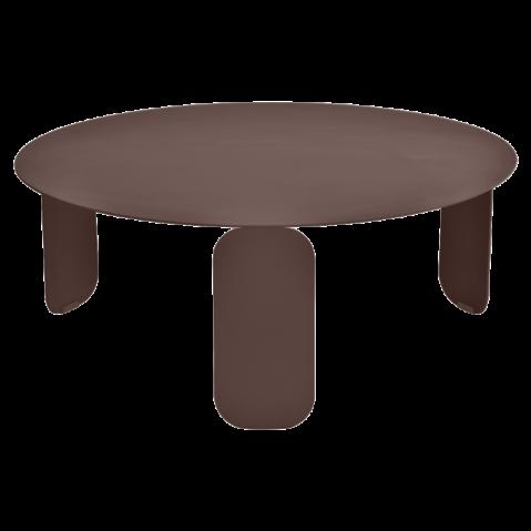 Table basse BEBOP de Fermob, D. 80, Rouille