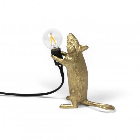 LAMPE A POSER MOUSE LAMP GOLD, Step de SELETTI