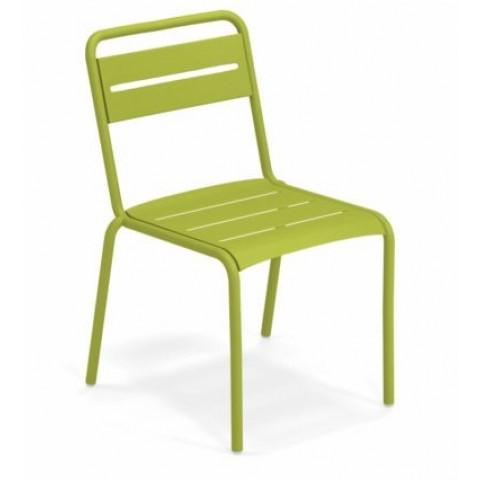 chaise star emu vert